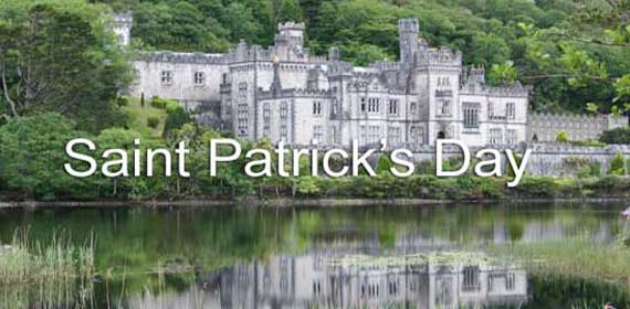 Saint Patrick's Day Banner of Lake in Ireland