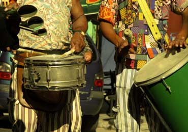 Musicians Playing Samba Music