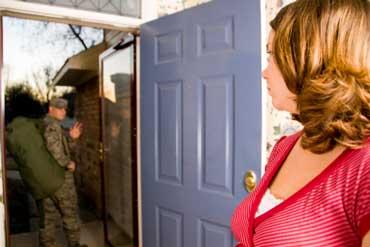 Soldier Saying Goodbye