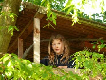 Girl in a Treehouse