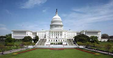 U.S. Capitol Building - Shows Both Wings