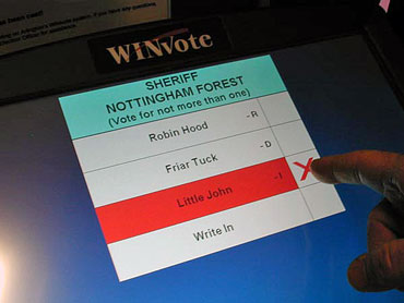 Computer Screen for Voting