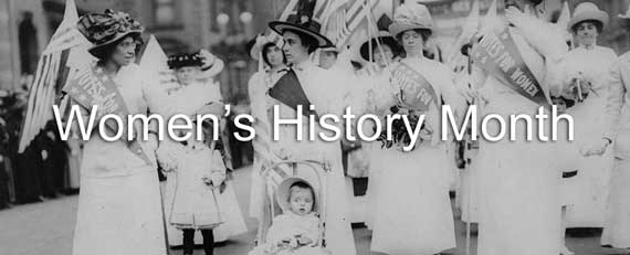 Women's History Month - Suffage Parade in NYC in 1912