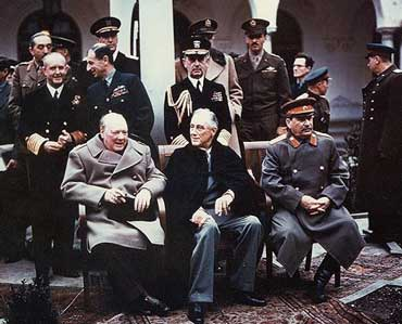 Yalta Summit with Churchill, Roosevelt, and Stalin