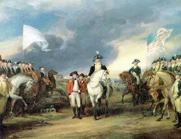 Battle of Yorktown, Surrender of Cornwallis to George Washington
