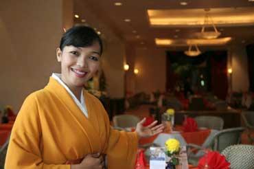 Hostess at a Japanese Restaurant