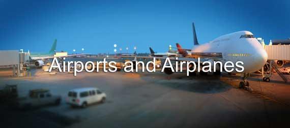Airports and Airplanes Banner