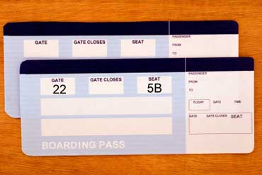 Airplane Boarding Pass