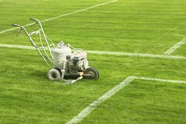 Machine Used to Paint Lines on a Football Field