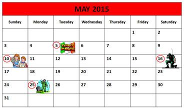 May Calendar 2015