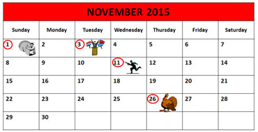 November Calendar 2015