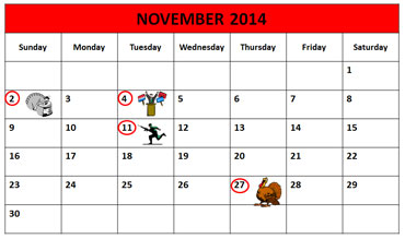 November Calendar 2014