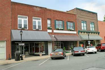Store Fronts in a Small Town