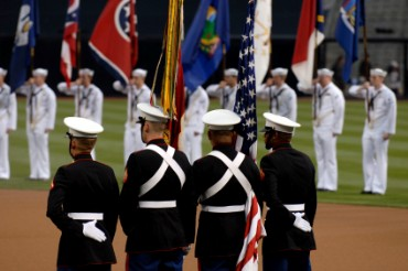Marine Color Guard with Flags
