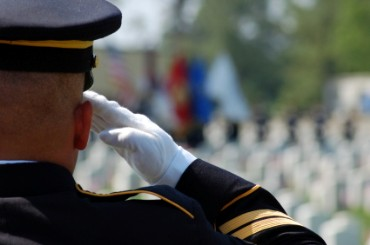 Marine Salutes on Memorial Day