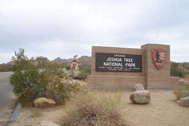 Sign at the Entrance of Joshua Tree Park