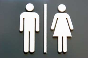 Restroom Sign for Men and Women