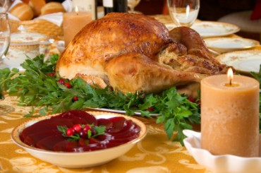 Roast Turkey with Cranberry Sauce
