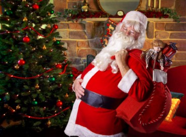 Santa Clause Delivering Presents