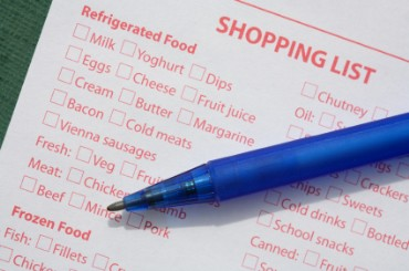 Shopping List for Groceries