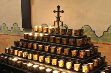 Candles at Mission de Alcala
