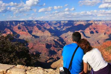 Couple Looking at the Grand Canyon