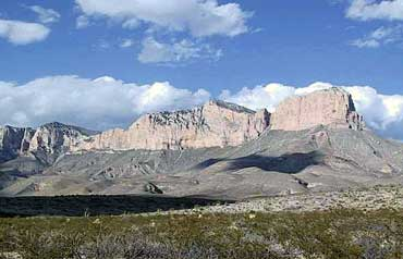 Guadalupe Peak, in the Guadalupe Mountains Range