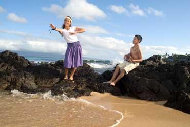 Hawaiian Girl Doing a Hula Dance