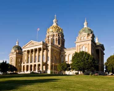 Iowa State Capitol Building in Des Moines