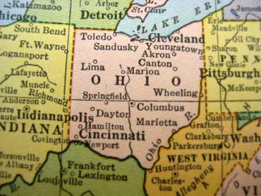 Map Of Ohio And Pennsylvania http://www.elcivics.com/state-lessons/ohio-lesson-1.html