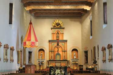 Altar at Mission de Alcala in San Diego, California