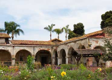 Courtyard at Mission San Juan Capistrano