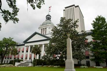 Tallahasse - Florida's State Capitol Buildings (Old Capitol in Front and New Capitol in Back)