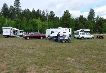 Campsite with Vehicles
