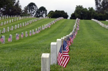 U.S. Flags Mark Graves for Memorial Day