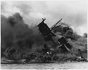 Arizona Attacked at Pearl Harbor