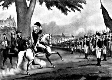 American War of Independence, Washington Taking Control of Continential Army