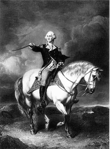 George Washington on Horse, 1776