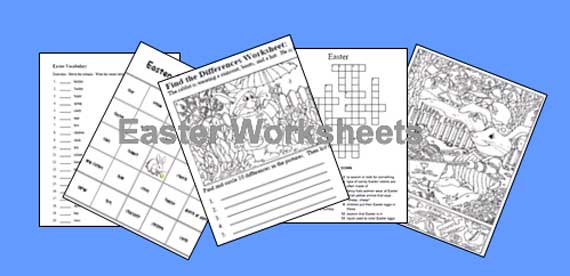 Worksheets Free Easter Worksheets easter worksheets free and printable worksheets