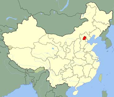 Map of China Shows Beijing