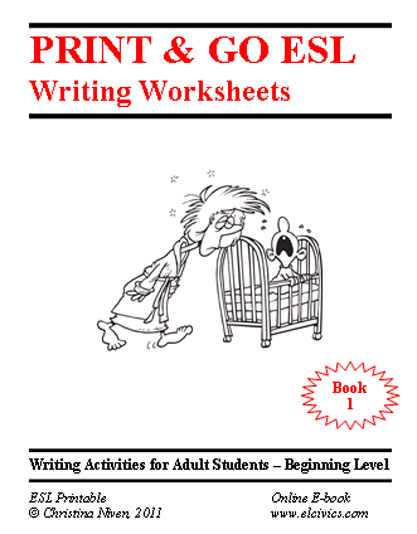 Worksheets Beginning Esl Worksheets free esl ebooks printable worksheets writing e book 1